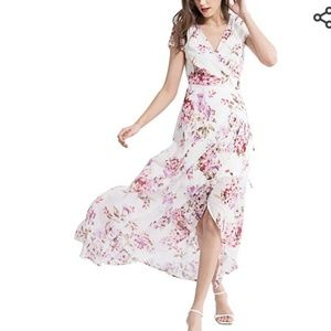 Womens wrap around spring summer dresss new S/M
